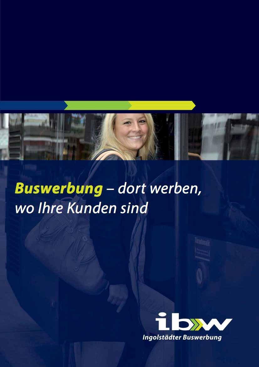 Buswerbung Broschüre