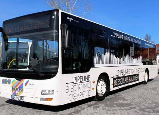 Buswerbung Pipelinestore