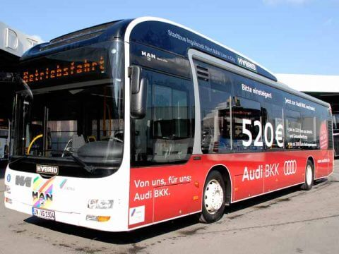 Buswerbung Audi BKK