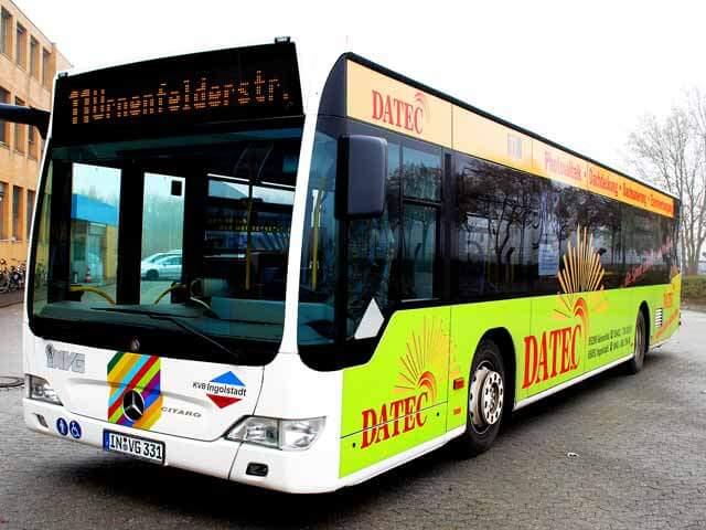 Buswerbung Teilflächenwerbung Datec ibw