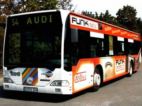 Buswerbung Funk