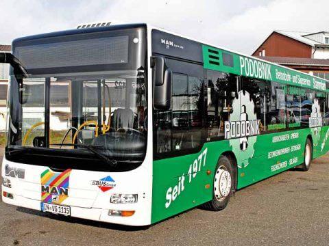 Buswerbung Podobnik