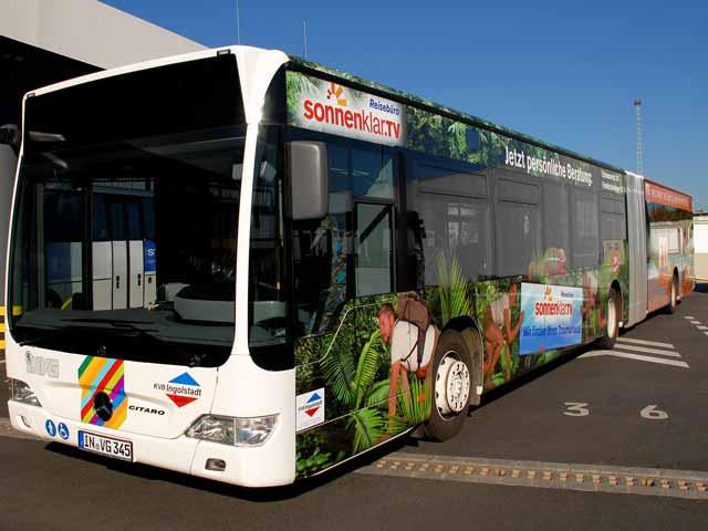 Buswerbung Reisebüro Sonnenklar