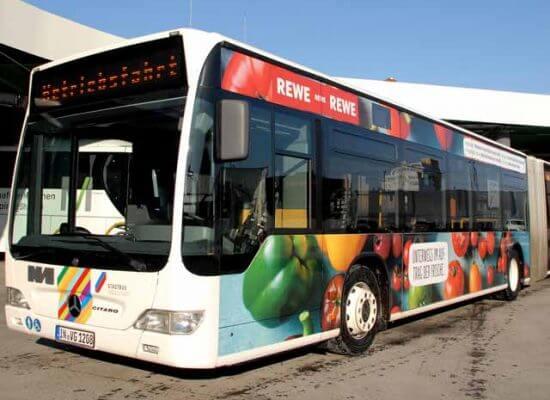 Buswerbung Rewe