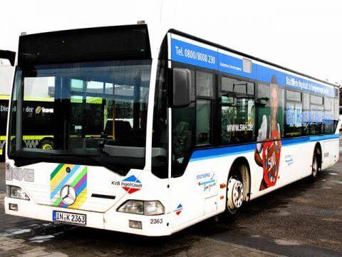 Buswerbung Stadtwerke Ingolstadt