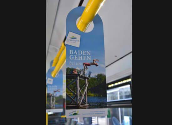 Buswerbung SwingCard Chiemgau Boing