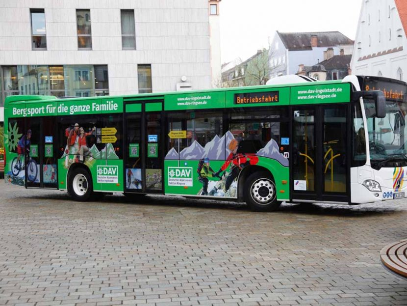 Buswerbung Deutscher Alpenverein Sektion Ingolstadt