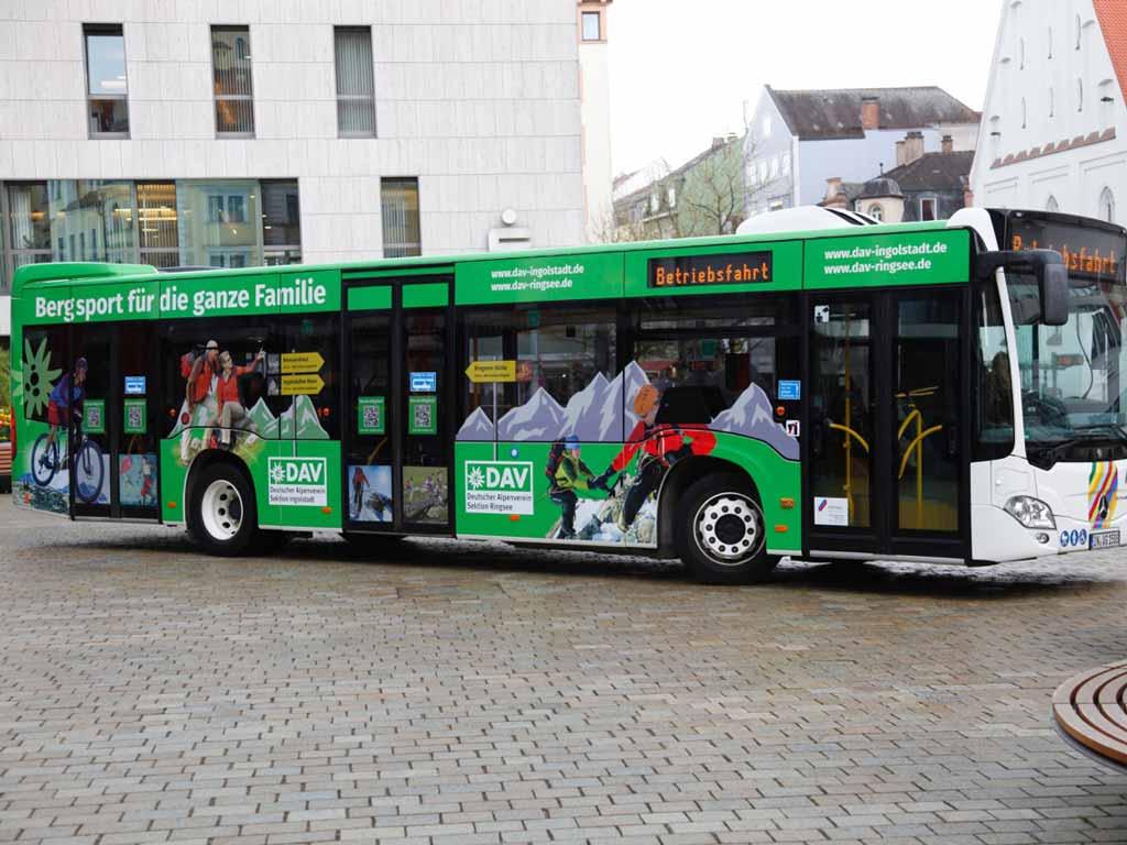 Buswerbung DAV