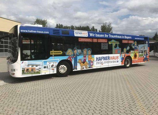 Buswerbung Hafner Bauunternehmung