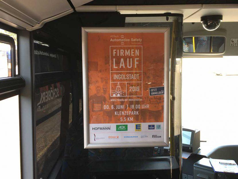 Buswerbung Plakat Firmenlauf